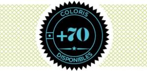 70 coloris disponibles