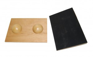 Plateau d'équilibre 2 boules